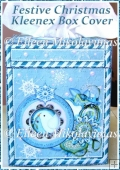Festive Christmas Kleenex Tissue Box Cover with Directions