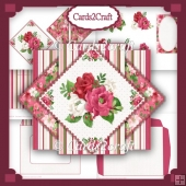 Christmas flowers pop up triangle set
