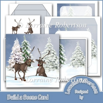 Build a Scene 3D Christmas Card