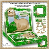 Cutiesaurus Drawer Easel Card Kit