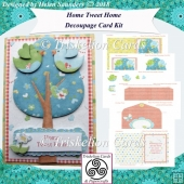 Home Tweet Home 5 x 7 Inch New Home Decoupage Card Kit