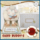More Greetings 4 Ewe Decoupage Shaped Easel Card Kit