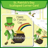 St. Patrick's Day Scalloped Corner Card