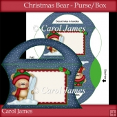 Christmas Bear 1 - Purse/Box