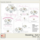 Floral Watercolor Wedding Invitation Set 3