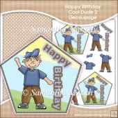 Happy Birthday Cool Dude 2 Decoupage Download