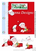 8x8 Baby's First Christmas Card Topper/Front