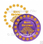 Bells Design for Christmas Charger Plate - vinyl suitable