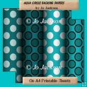Aqua Circle Backing Papers