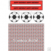 Red Football Penny Slider Sheet