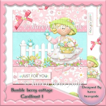 Bumble Berry Cottage Card Front 1