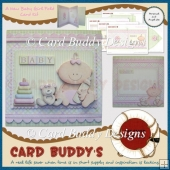 A New Baby Girl Fold Card Kit