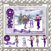 Making A Snowman Lilac Card Front