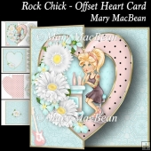 Rock Chick - Offset Heart Card