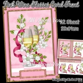 Pink Wine Glasses Card Front