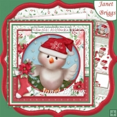 WHOO HOO IT'S CHRISTMAS 8x8 Decoupage & Insert Kit