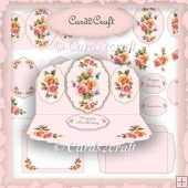Rosy glow easel card set