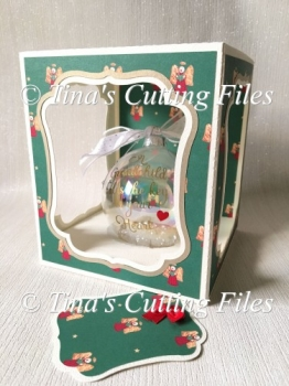 Bauble Christmas ornament box cuttting file