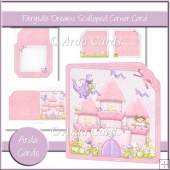 Fairytale Dreams Scalloped Corner Card