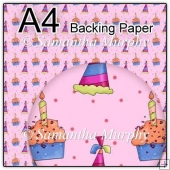 ref1_bp309 - Pink Birthday Cake Party Hat
