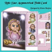 Little Star Asymmetric Fold Card