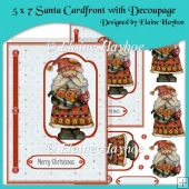 5 x 7 Santa Cardfront with Decoupage