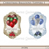Christmas Balloons Toppers 1