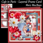 Cafe in Paris - Layered Frame Card