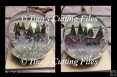 2 X Multi layered 3d scenes for inside Christmas Baubles