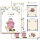 Friends card toppers + layering elements