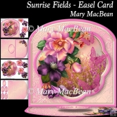 Sunrise Fields Easel Card