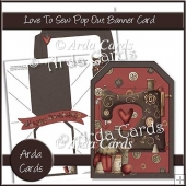 Love To Sew Pop Out Banner Card