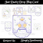 Just Ducky Drop Flap Card