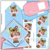 Butterfly Bears Spring Card & Pyramage PDF Download