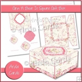 Grin N Bear It Square Gift Box
