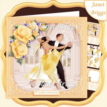 GOLDEN STRICTLY COME DANCING 7.5 Decoupage & Insert Mini Kit