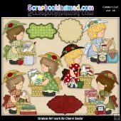 Annabelles Kitchen Baskets ClipArt Collection