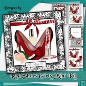Red Shoes Girly Card Kit
