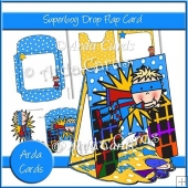 Superboy Drop Flap Card