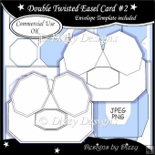 Double Twisted Easel Card #2