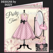 Party Time Dress Card