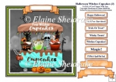 Halloween Witches Cupcakes (3) Card Topper & Tags