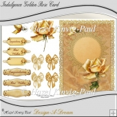 Indulgence Golden Rose Card