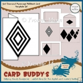 5x7 Diamond Pyramage Foldback Card Template Set