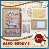 If Friends Were Flowers Rounded Corner Fold Card Kit