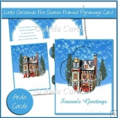 Little Christmas Fire Station Framed Pyramage Card