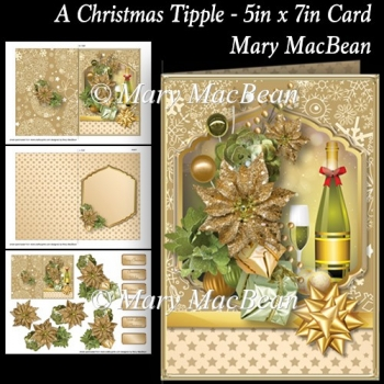 A Christmas Tipple - 5in x 7in Card