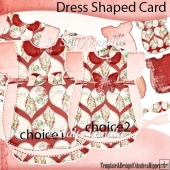 Dress Shaped Card Heart