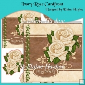 Ivory Rose Cardfront with Decoupage