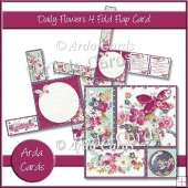 Daily Flowers 4 Fold Flap Card